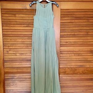 JCrew Petite Megan long dress in silk chiffon